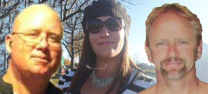 Ο Τζέισον Κόχραν (αριστερά), η Κέλι Κόχραν (στο κέντρο) και το θύμα τους, Κρις Ρέγκαν (δεξιά) (Φωτογραφίες: Facebook)