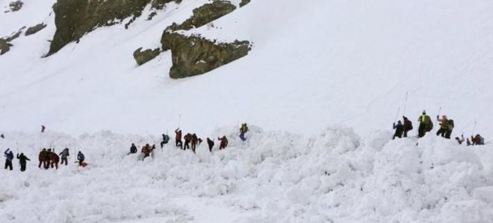 χιονοστιβάδα στο Κραν Μοντανά/Φωτογραφία: Τwitter