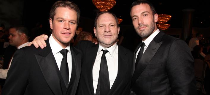 Ματ Ντέιμον, Χάρβεϊ Γουάινσταϊν και Μπεν Άφλεκ τον Μάρτιο του 2010 (Φωτογραφία: ΑΡ/αρχείο)