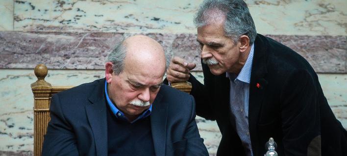 Ο Νίκος Βούτσης και ο Σπύρος Δανέλλης / Φωτογραφία: EUROKINISSI/ΓΙΩΡΓΟΣ ΚΟΝΤΑΡΙΝΗΣ