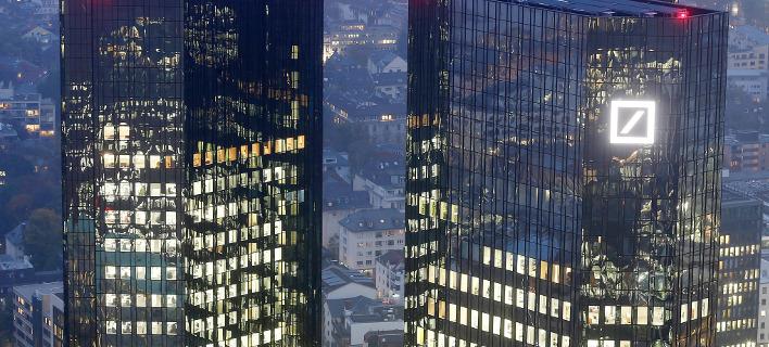 Η Deutsche bank στη Φρανφκούρτη/Φωτογραφία: ΑΡ