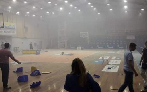 Μεγάλα επεισόδια στο Μαρκόπουλο -Σε αγώνα μπάσκετ της Β' ΕΣΚΑ [εικόνες & βίντεο]