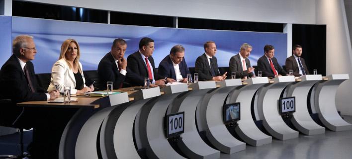 Το πρώτο debate των 9 υποψηφίων για την ηγεσία της Κεντροαριστεράς -Φωτογραφία: Intimenews