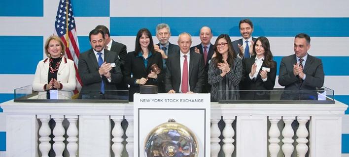 Η τελετή λήξης της συνεδρίασης στο Χρηματιστήριο της Νέας Υόρκης