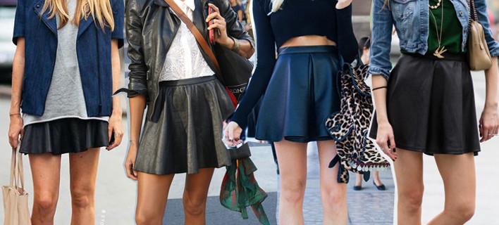 Δερμάτινη φούστα  15 μοδάτοι τρόποι για να τη φορέσετε  εικόνες ... 0d4ac6abbc5