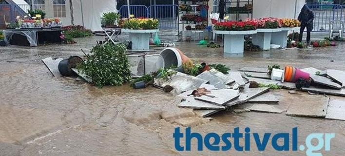Θεσσαλονίκη: Κλειστή η ανθοέκθεση της ΔΕΘ μετά στις καταστροφές από τη θεομηνία [βίντεο]