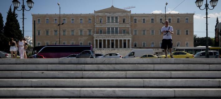 Η πλατεία Συντάγματος και το κτίριο της Βουλής/Φωτογραφία: Eurokinissi