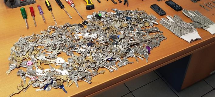 Οι διαρρήκτες είχαν 646 κλειδιά διαφόρων τύπων