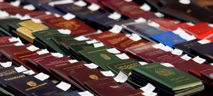 "Verborg 31 paspoorten magnetron -Synelifthi op ""El.  Venizelos """