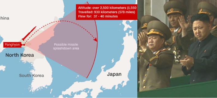 Αποτέλεσμα εικόνας για Β. Κορέα: Εκτόξευσε διηπειρωτικό πύραυλο - «Μπορούμε να χτυπήσουμε παντού»