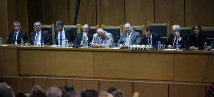 Στιγμιότυπο από τη γενική συνέλευση της ΕΔΕ/ Φωτογραφία: EUROKINISSI- ΓΙΑΝΝΗΣ ΠΑΝΑΓΟΠΟΥΛΟΣ