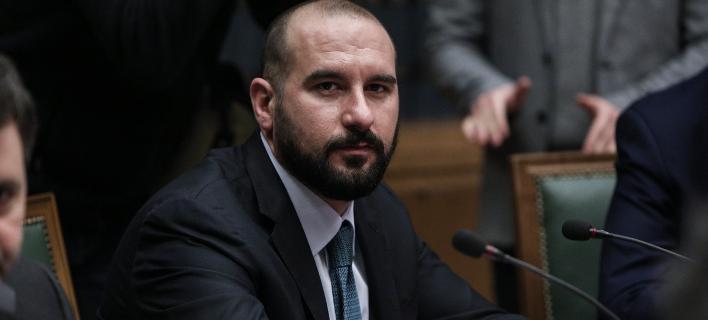 Ο υπ. Επικρατείας και κυβερνητικός εκπρόσωπος Δημήτρης Τζανακόπουλος / Φωτογραφία: SOOC