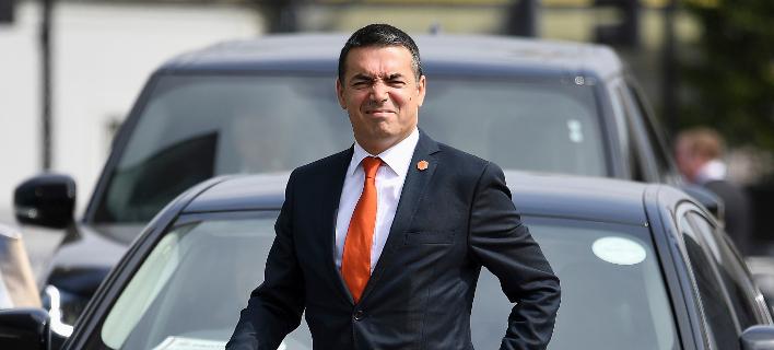 Ο υπουργός Εξωτερικών της ΠΓΔΜ Νίκολα Ντιμιτρόφ/Φωτογραφία αρχείου: ΑΡ
