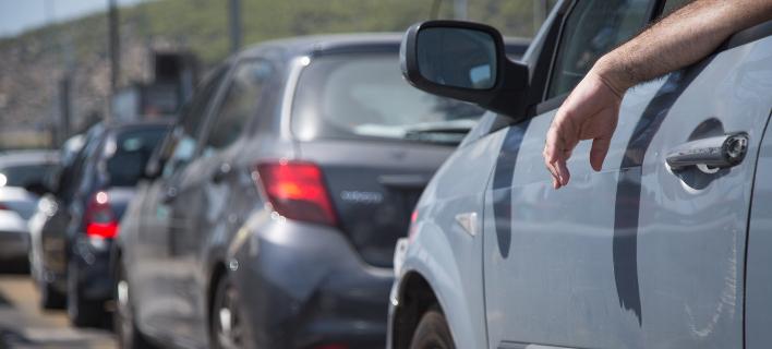Οδηγοί την ώρα κίνησης/ Φωτογραφία: Eurokinissi