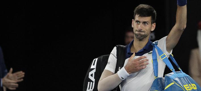 Ο Τζόκοβιτς αποχαιρέτισε το Αυστραλιανό Οπεν (Φωτογραφία: AP/ Dita Alangkara)