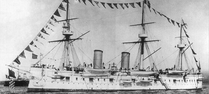 Το καταδρομικό του ρωσικού αυτοκρατορικού στόλου της Βαλτικής, «Ντμίτρι Ντονσκόι» (Φωτογραφία: Wikipedia)