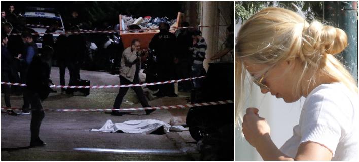 Σπαρακτικές οιμωγές της Βικτώριας Καρύδη για την εκτέλεση του συζύγου της Γ Μακρή -Φωτογραφίες: Eurokinissi/Γιώργος Κονταρίνης -ndp