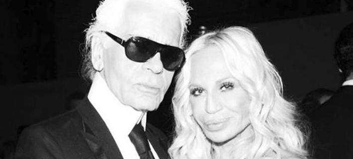 Η Donatella Versace με τον Karl Lagerfeld (Φωτο: Donatella Versace/Instagram)