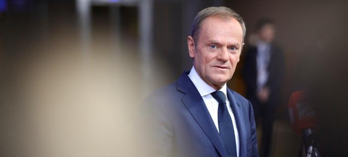 O πρόεδρος του Ευρωπαϊκού Συμβουλίου, Ντόναλντ Τουσκ (Φωτογραφία: ΑΡ)