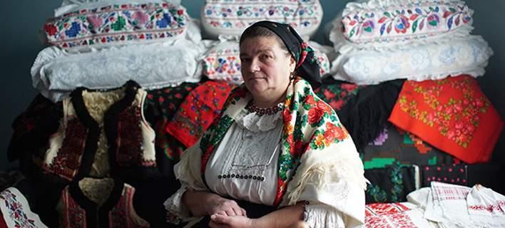 Η Ντορίνα Χάνζα, μία από τις σχεδιάστριες του Bihor. Φωτογραφία: bihorcouture