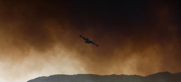 Πυρκαγιά σε ορεινή περιοχή της Δράμας / Φωτογραφία: SOOC