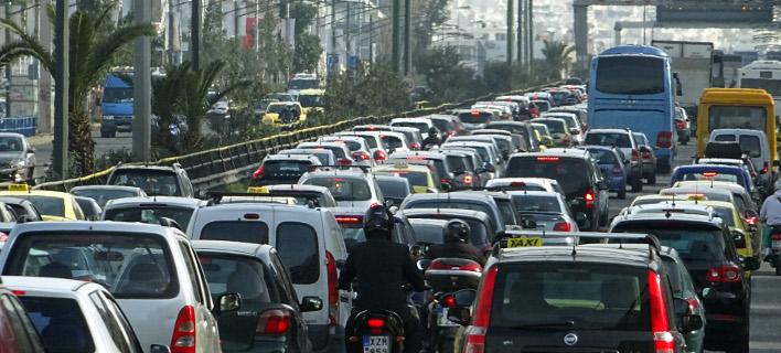 Κυκλοφοριακό χάος/Φωτογραφία αρχείου: Eurokinissi