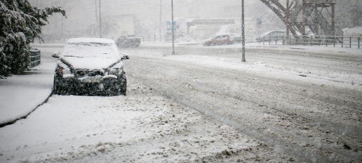 Πυκνή χιονόπτωση / Φωτογραφία: Eurokinissi