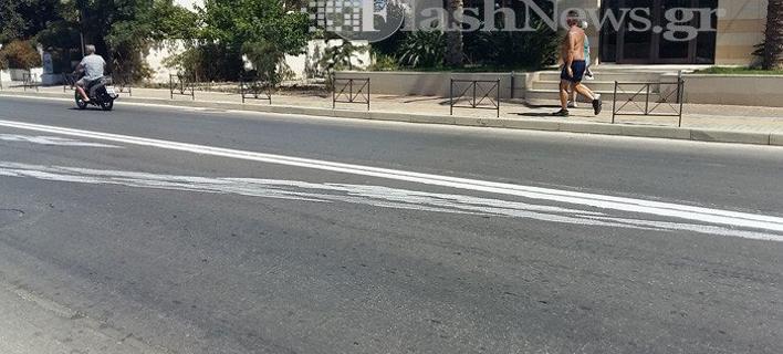 Δρόμος στην Κρήτη/ Φωτογραφία:flashnews.gr