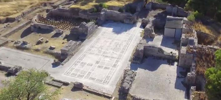 «Πτήση» με drone στα Ισθμια ...ανακαλύπτει εκπληκτικό ρωμαϊκό λουτρό [βίντεο]