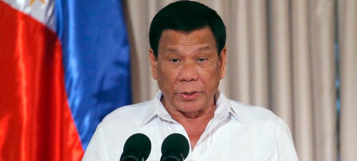 O πρόεδρος των Φιλιππίνων, Ροντρίγκο Ντουτέρτε (Φωτογραφία: ΑΡ)
