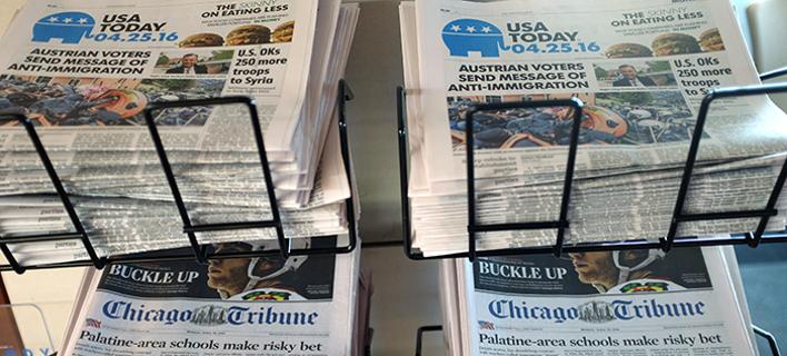 ΗΠΑ: Μόνο το 7% των Αμερικανών επιλέγει τις εφημερίδες για να ενημερώνεται/Φωτογραφία: AP