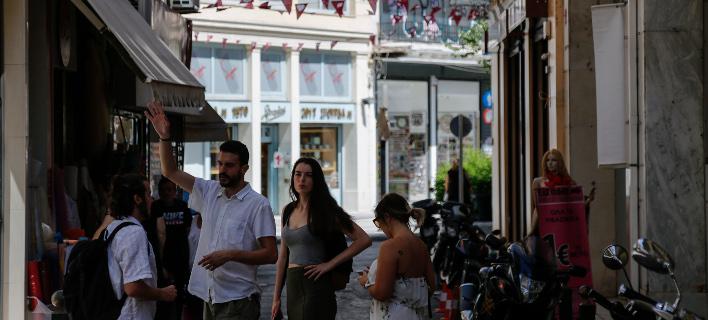 Καταστήματα στο κέντρο της Αθήνας/Φωτογραφία: Eurokinissi