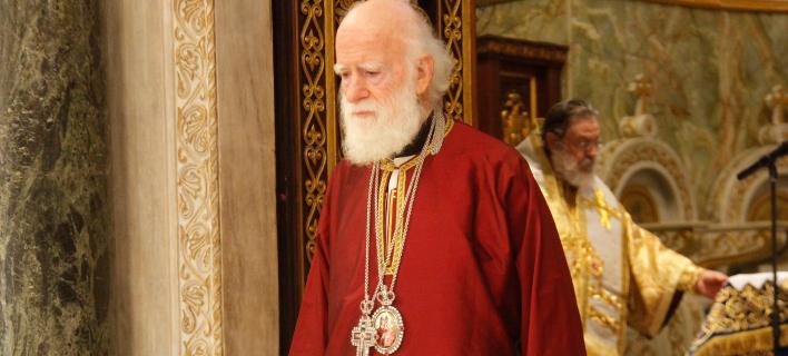 Σεβασμιότατος Αρχιεπίσκοπος Κρήτης Ειρηναίος (Φωτογραφία: ΧΡΗΣΤΟΣ ΜΠΟΝΗΣ--EUROKINISSI)