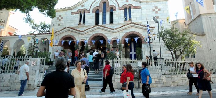 Χαρακτηριστική εικόνα από εκκλησία στην Ελλάδα / Φωτογραφία: EUROKINISSI