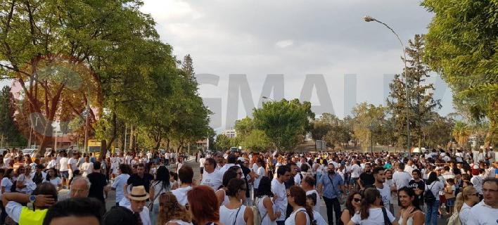 Διαδήλωση εκπαιδευτικών στην Κύπρο (Φωτογραφία: sigmalive)