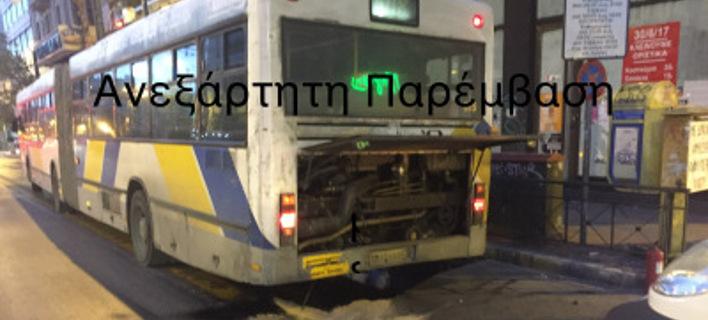 Εκρηξη σε λεωφορείο στην Πατησίων -Εσκασε η μηχανή [εικόνες]