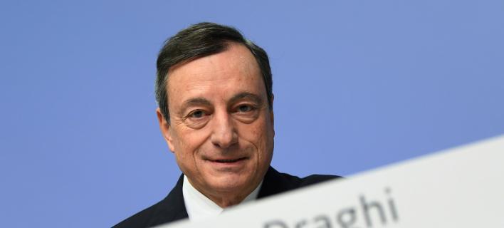 Ο επικεφαλης της ΕΚΤ, Μάριο Ντράγκι/Φωτογραφία: AP