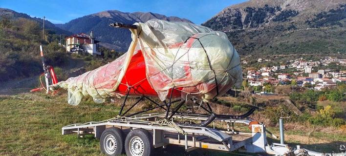 Στο Καρπενήσι εντοπίστηκε ελικόπτερο που είχε κλαπεί... στο Μεσολόγγι