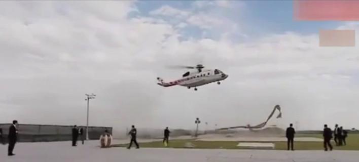 Στο παρά πέντε αποφεύχθηκε ατύχημα με το ελικόπτερο του Ερντογάν [εικόνες & βίντεο]