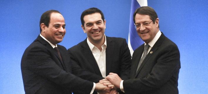 Προσφυγικό, τρομοκρατία και ΑΟΖ στην 4η Σύνοδο Κορυφής Ελλάδας-Αιγύπτου-Κύπρου