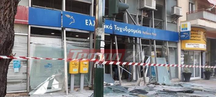Ανάληψη ευθύνης για την επίθεση στα ΕΛΤΑ Πάτρας (Φωτογραφία: tempo24)