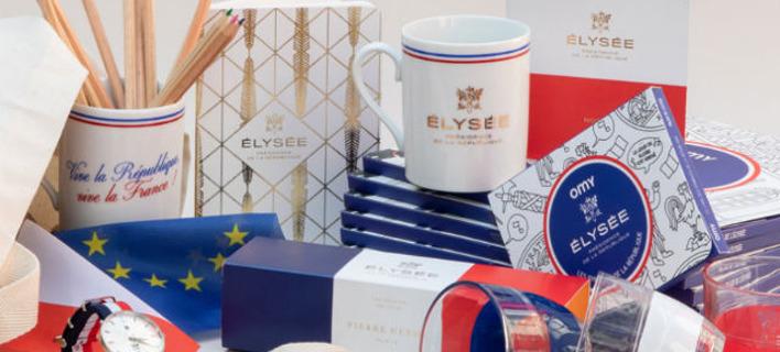 Συνολικά 56 προϊόντα θα πουληθούν στην αυλή του Elysee. Φωτογραφία: Boutique Elysee
