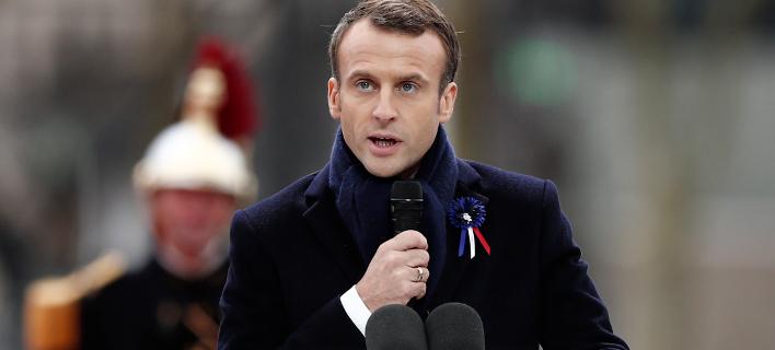 Ο Γάλλος πρόεδρος, Εμανουέλ Μακρόν (Φωτογραφία: Benoit Tessier/Pool Photo via AP)
