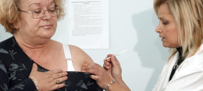 Εμβολιασμός κατά της γρίπης / Φωτογραφία: EUROKINISSI