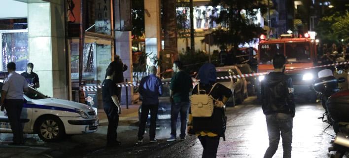 επίθεση στο ΑΤ Ομόνοιας/Φωτογραφία: Eurokinissi