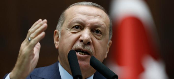 O Toύρκος πρόεδρος Ταγίπ Ερντογάν (Φωτογραφία: ΑΡ/Burhan Ozbilici)
