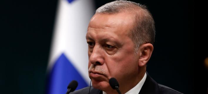Ο Ρετζέπ Ταγίπ Ερντογάν -Φωτογραφία: AP Photo/Burhan Ozbilici