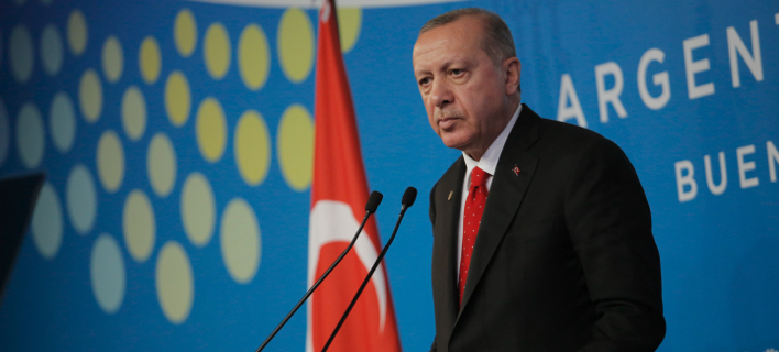 Ερντογάν στην G 20/ Φωτογραφία: AP