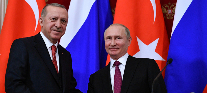 Ρετζέπ Ταγίπ Ερντογάν- Βλαντιμίρ Πούτιν/ Φωτογραφία: AP