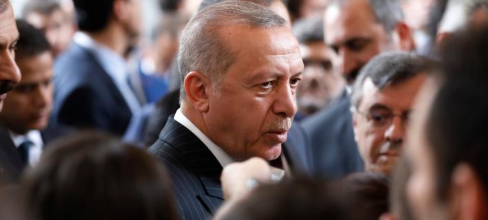Ο Ρετζέπ Ταγίπ Ερντογάν (Φωτογραφία: AP Photo/Burhan Ozbilici)